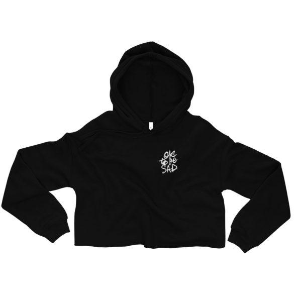 LOL NOPE – Black Cropped Hoodie - Front