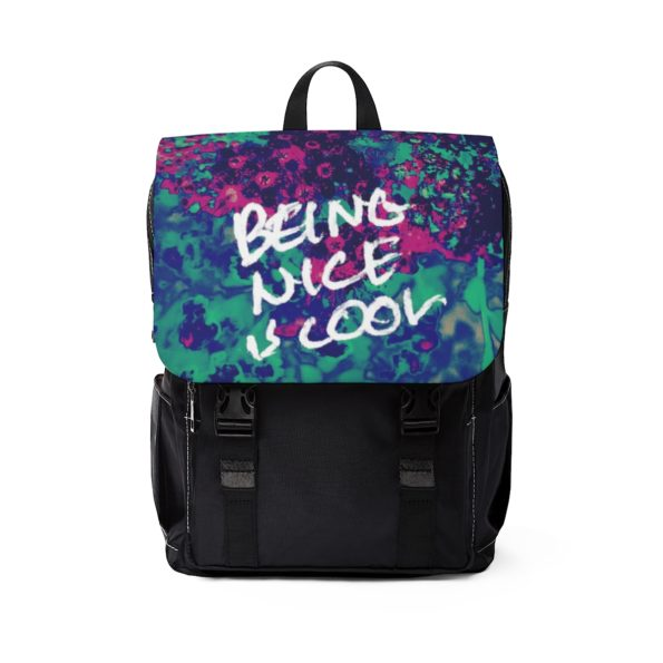 BEING NICE IS COOL - Casual Shoulder Backpack - Front