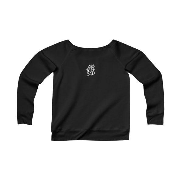 BEING NICE IS COOL - Sponge Fleece Wide Neck Sweatshirt - Back