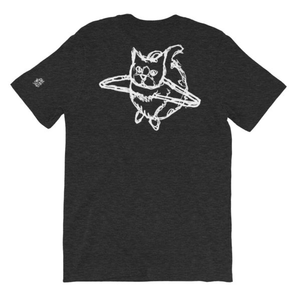 HANG WITH ME - Black Triblend Basic T-Shirt - Back