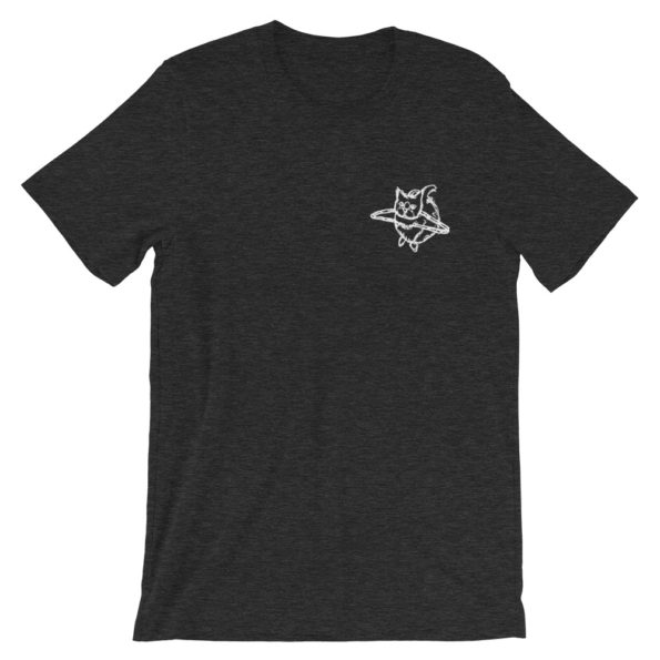 HANG WITH ME - Black Triblend Basic T-Shirt - Front
