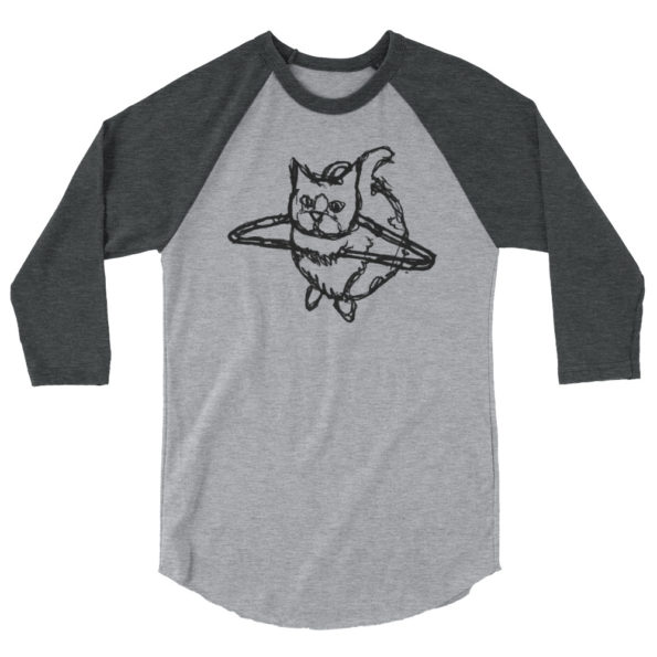 HANG WITH ME - Triblend 3/4 sleeve raglan shirt - Front