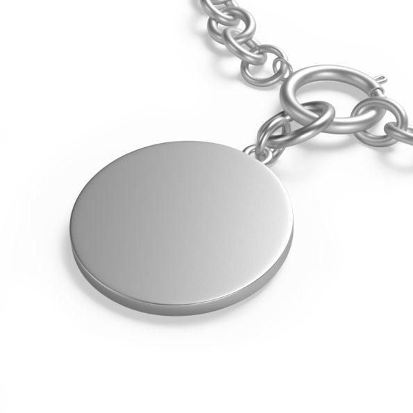MAKE SENSE - Chunky Silver Chain Bracelet - Back