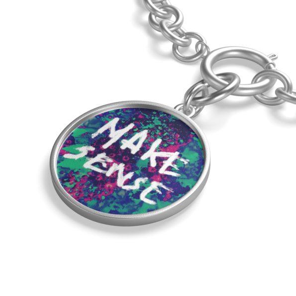 MAKE SENSE - Chunky Silver Chain Bracelet - Detail