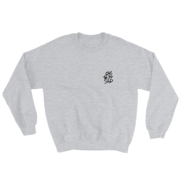 MAKE SENSE - Grey tri-blend Sweatshirt - Front