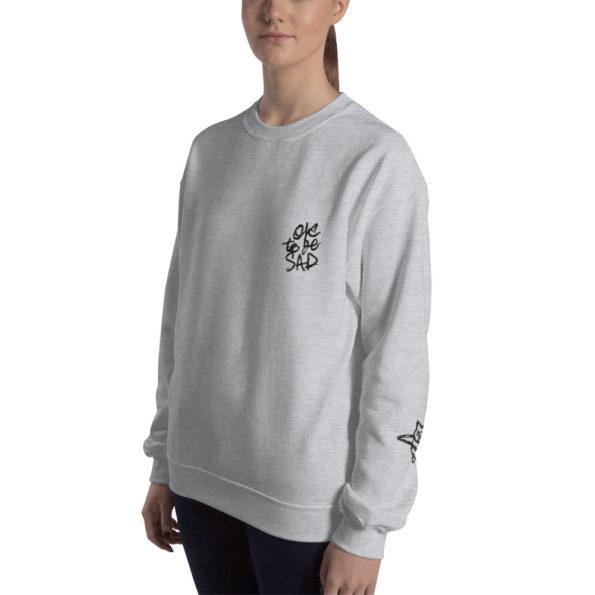 MAKE SENSE - Grey tri-blend Sweatshirt - Side B