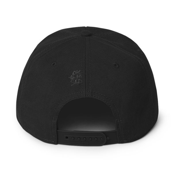MAY I STAND UNSHAKEN - Black Snapback Hat - Back
