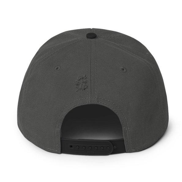 MAY I STAND UNSHAKEN - Grey Snapback Hat - Back
