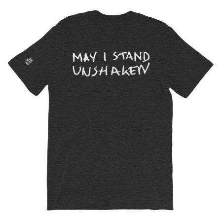 MAY I STAND UNSHAKEN - Black Triblend Basic T-Shirt - Back