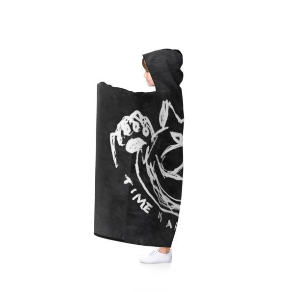 TIME IS A FLAT CIRCLE - Hooded Blanket - Side