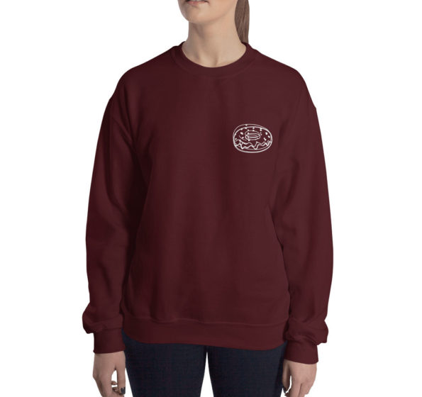 TIME IS A FLAT CIRCLE - Maroon Sweatshirt - Front