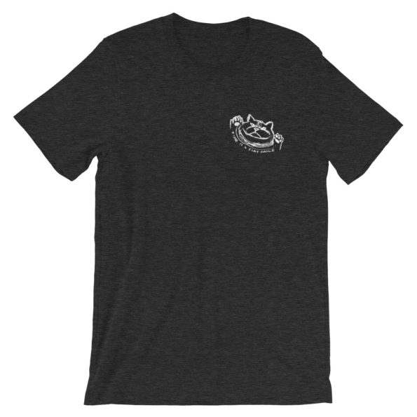 TIME IS A FLAT CIRCLE - Black Triblend Basic T-Shirt - Front