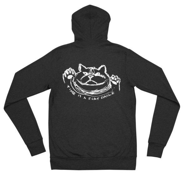 TIME IS A FLAT CIRCLE - Triblend zipper hoodie - Back