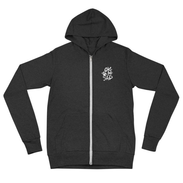 TIME IS A FLAT CIRCLE - Tri-blend zipper hoodie - Front